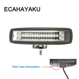 Wholesale ECAHAYAKU 6 inch LED light bar combo beam 84w Car led bar for 4x4 SUV ATV 4WD offroad trucks 12V fog driving light