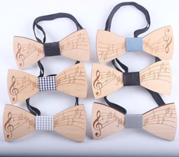 $enCountryForm.capitalKeyWord Canada - Fashion Wooden Bowtie Gentleman Bow Ties Handmade Note Tie Party Bow Ties Butterfly Wooden Unique Tie For Man