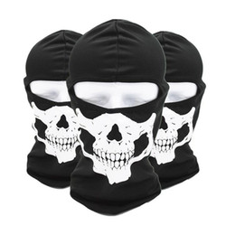 Skull Masks Face Coverings NZ - Motorcycle Helmet Cycling Face Masks Skull Wicking Headgear Sports Bike Bicycle Riding Hat Head Scarf Cycling Full Face Mask