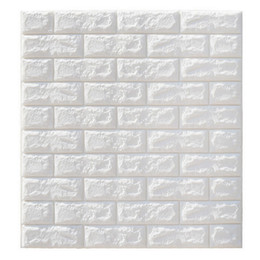 China Clearance 6mm Pe Foam 3d Wallpaper DIY Wall Stickers Wall Decor Embossed Brick Stone Wallpaper Room House 70 X 77 Poster cheap diy wallpaper house suppliers