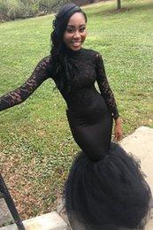Black Formal Dresses South Africa Australia - 2019 Black Prom Dresses with Long Sleeves Mermaid South Africa Formal Evening Dress Halter Neck Sweep Train 2019 Black Prom Dresses with Gol