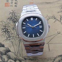 Опт Высокое качество роскошные мужские часы роскошные высокое качество автоматические механические часы 5711A Спорт Бизнес серебристые WaterproofWristwatch