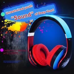 $enCountryForm.capitalKeyWord Australia - N75 DIY Colorful Wireless Bluetooth Headphone Stereo HiFi Wired Sports Music Phone Headset Earphone with Mic TF Slot FM Radio