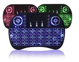 Rii I8 Fly Air ratón 2.4G de colores de luz de fondo del teclado iluminado Wireless Touchpad multifunción para PC Pad Android TV Box MXQ V88 X96 en venta