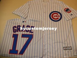 sew patch letters NZ - Cheap custom Chicago #17 MARK GRACE Cool Base Sewn Baseball Jersey W Patch NEW Mens stitched jerseys Big And Tall SIZE XS-6XL For sale