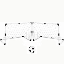 $enCountryForm.capitalKeyWord UK - 2 Sets DIY Children Sports Soccer Goals with Soccer Ball and Pump Practice Scrimmage Game Football Gate DIY White Gift For Kids