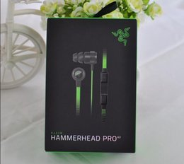 headphone v2 Canada - Razer Hammerhead Pro V2 in ear headphones Earphones Gaming Headsets with microphone wire control support for computer phones With Retail Box