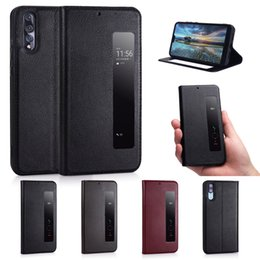 View Window Case Australia - for Huawei P20 pro Smart Touch phone Case genuine leather with View Window Stand good choice for business men mate 20 20pro 20X