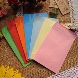 $enCountryForm.capitalKeyWord Australia - 200pcs Colored Blank Mini Paper Envelopes 10 Candy colors Envelopes Wedding Party Invitation Greeting Cards Paper Gift bag