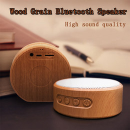 high bass mp3 player 2020 - Wood Grain Loudspeaker Portable Mini Bluetooth Wireless Speaker Subwoofers Stereo Bass Support TF Card Voice Calls MP3 H