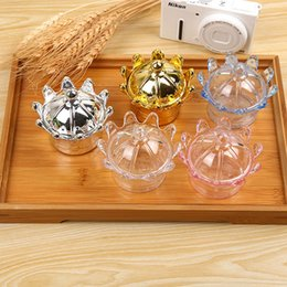 Thanksgiving Gift Packing Australia - Plastic Candy Box Crown Shaped Clear Gift Packing Box Baby Shower Favor Chocolate Storage Box Party Wedding Decoration
