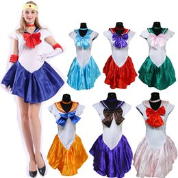 Wholesale sailor moon cosplay resale online - Athemis Anime Sailor Moon Minako Aino Sailor Cosplay Costume custom made Dress