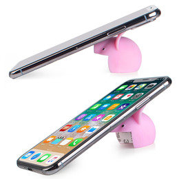 $enCountryForm.capitalKeyWord Australia - Universal 2 Colors mini pig Silica gel Cell Phone Tablets PC Desk Stand Holder Support Bracket and Mini pigs to prevent children from injury