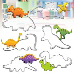 $enCountryForm.capitalKeyWord Australia - 6PCS Set 3D Dinosaur Shape Fondant Cake Mold Metale Cookie Cutter Sugarcraft Dessert Biscuit Mould Fondant Cake Decorating Tools