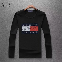 cotton brands NZ - New Ice Silk Cotton Autumn and Winter Fashion Men and Women Round Collar Sweater Brand Autumn Fashion Long Sleeve T-Shirt JP0828-03