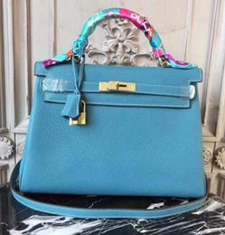 $enCountryForm.capitalKeyWord Australia - New Luxury Designer Leather Lock kelly Hand Bags Leather Women Handbags Ladies Shoulder Bags Original leather Classic Women Messenger Bag 25
