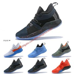 98a0024cd19b High quality Paul George 2 PG II Basketball Shoes for Cheap top PG2 2S  Starry Blue Orange All White Black Sports Sneakers Size 40-45