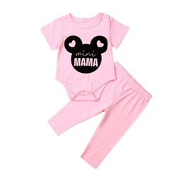 Cute Casual jumpsuits online shopping - Newborn Clothes Cute Infant Baby Girls Clothes Set Short Sleeve Romper Summer Jumpsuit Pink Pants Outfits Sports Tracksuit