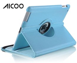 $enCountryForm.capitalKeyWord Australia - AICOO 360 Degree Rotating Tablet Case PU PC Lychee Solid Color Case with Kickstand for iPad OPP