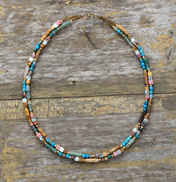 womens choker collars Australia - Women Choker Semi Precious Stone Seed Beads Choker Necklace Unique Womens Simple Collar Necklace Dropshipping Bohemia Jewelry J190711