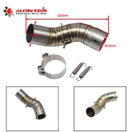 $enCountryForm.capitalKeyWord Australia - Alconstar- Z900 Stainless Steel Motorcycle Exhaust Middle Connect Link Section Adapter Pipe Slip On for Z900 2017 2018