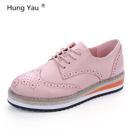 03cc31cf1364c4 women brogue shoes platform 2019 - Brogue Shoes Women Candy Colors Platform  Women Oxfords British Style