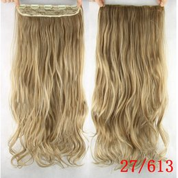 Wavy hair perm online shopping - Clip in Hair Extensions cm Long Hairpiece Wavy Heat Resistant Synthetic Natural Hair Extension