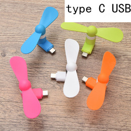 micro fans UK - 2 in 1 Mini Cool Micro USB Fan Mobile Phone USB Gadget Cooler Fan Tester Cell phone For type-c Samsung S10 plus iphone X XS MAX XR hot sale
