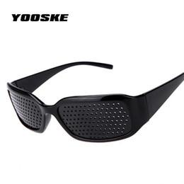 $enCountryForm.capitalKeyWord Australia - Black Pinhole Sunglasses Anti-fatigue Vision Care Pin Hole Microporous Glasses Eye Exercise Eyesight Improve Anti-myopia