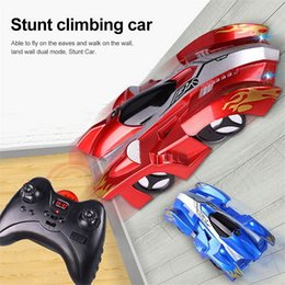 remote control car wall climbing Canada - RC Wall Climbing Mini Toy Kids Model Bricks Wireless Electric Car Children Radio Remote Control Race Playing Toys Y200414
