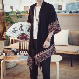 Baumwolle Leinen Lange Strickjacke Trenchcoat Männer Frühling Herbst Sommer Mode Beiläufige Lose Dünne Kimono Jacke Mantel Herrenbekleidung