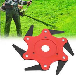 $enCountryForm.capitalKeyWord Australia - Top Quality 6T Garden Lawn Mower Blade Manganese Steel Grass Trimmer Brush Cutter Head For Lawn Mower