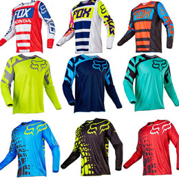 Wholesale New Fox Short Sleeve Downhill Jersey Mountain Bike T shirt MTB Maillot Bicycle Shirt Uniform Cycling Clothing Motorcycle Clothes
