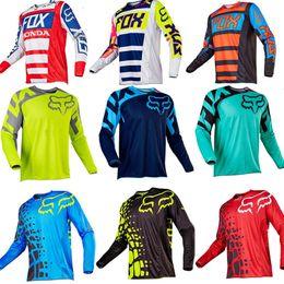 venda por atacado shirt novo Fox manga curta Downhill Jersey Mountain Bike T MTB Maillot bicicleta camisa uniforme Ciclismo roupa da motocicleta roupa