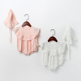 952c4a561ffd 2019 Spring Summer Baby Girls Clothing Short Sleeve Princess Lace Romper  Newborn Infant Girls Jumpsuit Clothes Outfit with Hat