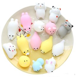 movies bear 2019 - INS Fashion Multicolor TPR Material Squishy Cat Rabbit Elephant Pig Bear Duck Healing Squeeze Fun Kids Toy Gift Stress R