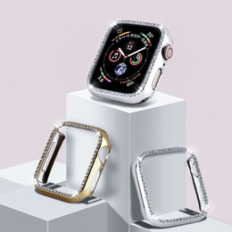 Wholesale apple watch 38mm bumper for sale - Group buy Crystal Bumper Rhinestone Protector Cover For Apple Watch mm mm Diamond PC Plated Watch Case For iWatch Series mm mm