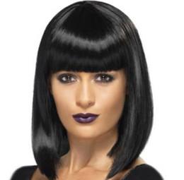 Black white BoB wig online shopping - Synthetic Wigs short hair Bob wave wig Natural women s short hair wig for black women FZP177