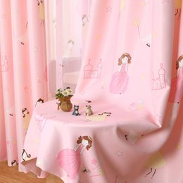 princess curtains Australia - 2019 Children Curtain Cartoon Princess Pink Girls Baby Room Kids Blackout Curtains For Bedroom Window Curtain Drapes