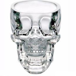 Crystals Souvenir Australia - New Crystal Skull Head Vodka Wine Shot Glass Drinking Cup 80ML Skeleton Pirate Vaccum Beer Glass Mug