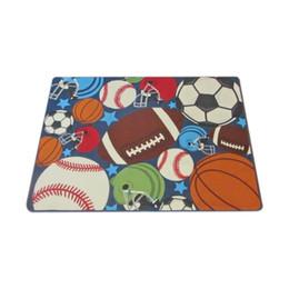 $enCountryForm.capitalKeyWord Australia - Children'S Carpet Boy Girl Children Carpet Ball Print With Football, Basketball, Football, Tennis Bedroom Game Room