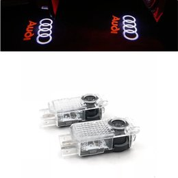 $enCountryForm.capitalKeyWord Australia - Free DHL Car Welcome Light For AUDI Car Door LED CIRCLE Ghost Shadow Light Audi Logo Projector Courtesy Lights Auto Backlight