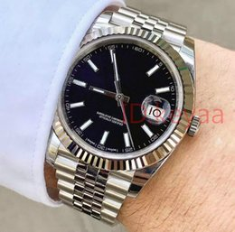 Men sports watches orange online shopping - Luxury Mens Black Watch mm Stainless Steel Watches Men Date Mechanical Automatic Just President Desinger Mens Watches Wristwatches