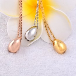 Chains For Mirrors Australia - IJD8396 Mirror Finish Small Teardrop Cremation Pendant,Engraveable Teardrop Cremation Urn Necklace for Loved One Ashes