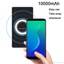wireless qi charging power bank NZ - Wireless Qi Charger 10000mAh Power Bank Fast Charging Adapter For Samsung NoteS8 For iPhone 8 iphone X with Box