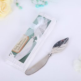 $enCountryForm.capitalKeyWord Australia - Wholesale hot sale new Wedding gift and giveaways--New Butter knife arrival Chrome Leaf Spreader wedding favour