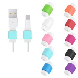 Discount plastic phone cord - Fashion USB Lightning Charger Data Protection Cover Mini Wire Protector Cable Cord USB Cable Protector Phone Accessories