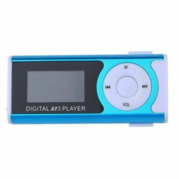 Discount lcd screen green - New LCD Screen Metal Mini Clip MP3 Player with Micro TF  Slot with Earphone and USB Cable Portable MP3 Music Players