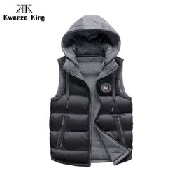Cans Warmer NZ - 2018 Men's Fashionable Vest Thick Warm Winter Caps Detachable Casual Jacket Can Be Double-faced Jacket Male's Waistcoats 268