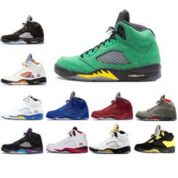 mesh fire 2019 - Camo Grey Mens Men 5 5s Basketball Shoes V Fire Red International Fight Laney Oregon Ducks Space Jam White Grape Cement